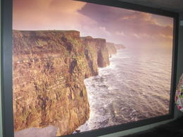 This is a photo inside the visitor center, and what the Cliffs should look like from our previous photo. :( , Christine - July 2012