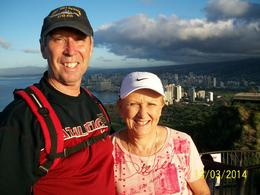Overlooking Waikiki Beach at Diamond Head , Julie J - March 2014