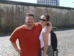 Next to the Berlin Wall remains. - September 2009
