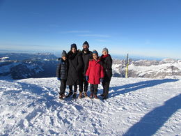 Family picture at 10,000 feet! Bright sunny day. , Sukhbeer S - December 2015