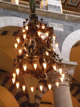 The chandelier designed by Galileo, inside the church in Pisa., Evan Wade R - April 2009