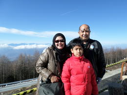 My Family enjoyed the clear weather at Mt. Fuji , Meivita Dewi P - December 2014