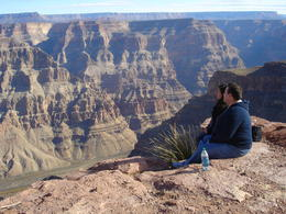 Photo of Las Vegas Grand Canyon West Rim Air and Ground Day Trip from Las Vegas with Optional Skywalk Hanging off the edge