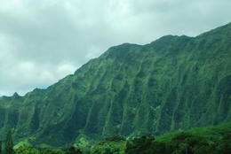 Mountain ridges caused by excessive rains and winds on east side of Oahu , Margaret - May 2011