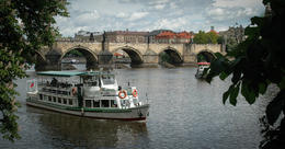 Photo of Prague Small-Group Prague City Walking Tour Including Vltava River Cruise and Lunch The Charles Bridge and Vlatava River, from Kampa Park