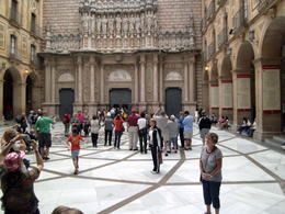 Photo of Barcelona Montserrat Royal Basilica Half-Day Trip from Barcelona The Inner Courtyard to the Basilica