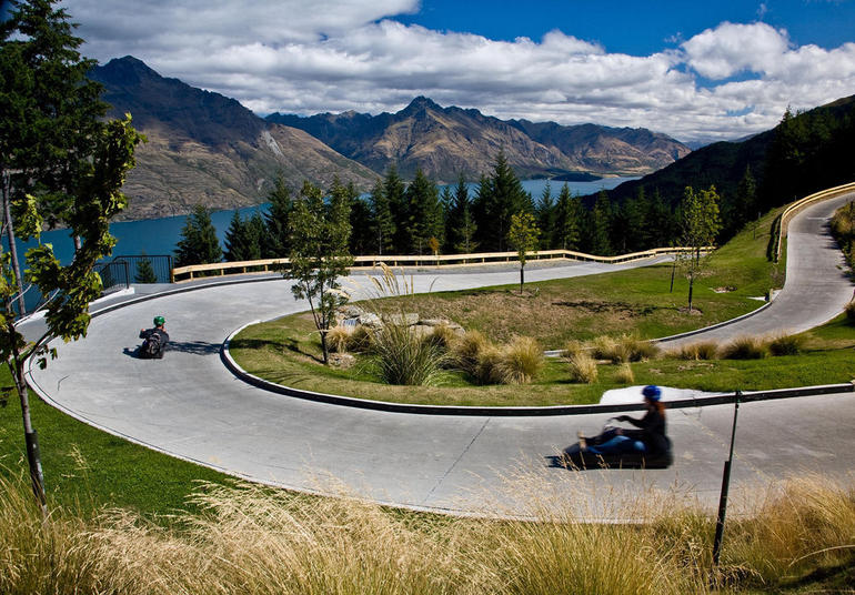 The Luge at the cable car, Queenstown Skyline Gondola - Queenstown