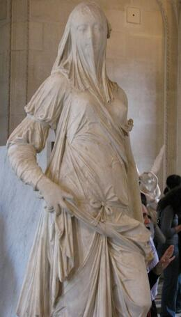 the tour guide's favorite statue, note the veil, Albert R - November 2009