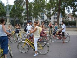 Some of Barcelona's parks are big, so biking is perfect, much better than being on foot. And the history of the region is so dense that everyone learned a lot from our guides. Here we're stopped in ... , RobC - September 2010