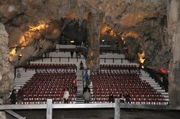 Saint Michael's Caves in the Rock of Gibraltar where summer concerts are held. , kands - November 2012
