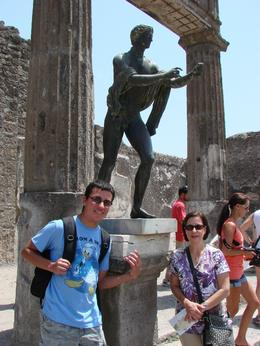My Son Xavier and Wife Gisela posing in front of Apollo. all status are naked around here. :) , AlexMarron - July 2011