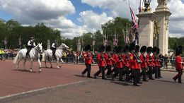 The tour guide took us to front row view of the Changing of the Guard. Beautiful! , Aly K - June 2016