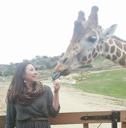San Diego Safari Park - We paid extra for a Caravan Safari so we could feed animals!, Cat - May 2015