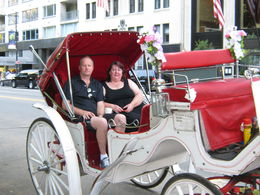 My husband Stewart and myself setting off on our horse and carriage ride round Central Park , Lynne M - September 2015