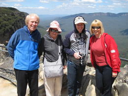 Bob, Dorothy, Carol and Ken Keyes blue mountains. , carol k - November 2014