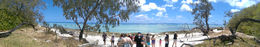 Panoramic view from the far side of Lady Musgrave Island out the Coral Sea , Rob L - January 2016