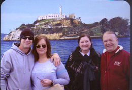 Our family before boarding for Alcatraz boat tour 04/18/15 , Cherrie H - April 2015