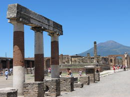 Photo of Rome Pompeii Day Trip from Rome Pompeii ruins with Vesuvius in the background.