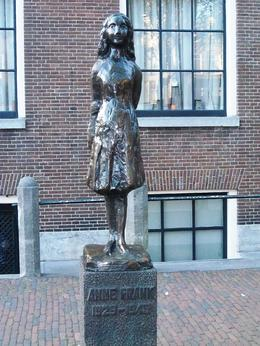 No photos are allowed inside the Anne Frank House, but this statue is close by. , Scott - August 2011