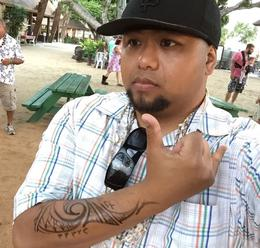 Experienced a tribal and quot;tattoo and quot; at the Paradise Cove Luau. , Leonard R - October 2014