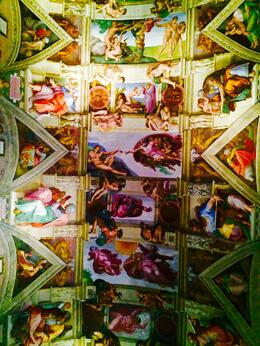 Vatican Michaelangelo's Sistine Chapel ceiling, Nancy - October 2014