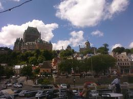 Photo of Montreal Quebec City and Montmorency Falls Day Trip from Montreal View of Quebec City from tour boat