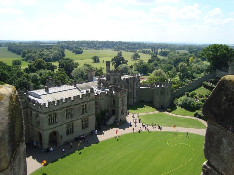 View of Warwick Castle from the top of the Round Tower - London