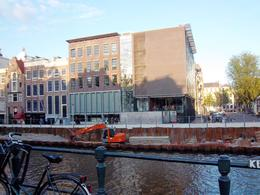 Photo of the Anne Frank House from across the Western Canal taken July 2011. , Scott - August 2011
