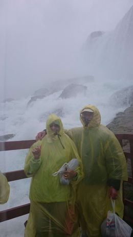 My parents at the Cave of the winds, Niagara. Be prepared to get wet ! My Mum laughed the whole way round, so much spray I didn't get as many photos as I'd have liked, but very much worth doing, it..., Gary h - August 2015