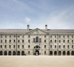 Collins Barracks, Dublin, Ireland: Home to the National Museum of Ireland's collection of decorative arts - June 2011