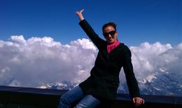 On the mountain top in Chamonix Mont-Blanc , Kimberley W - June 2012