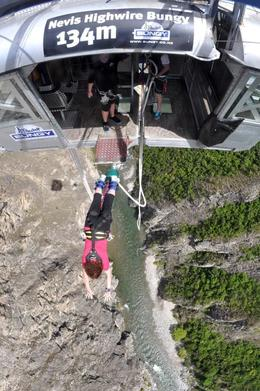 Photo of Queenstown Queenstown Nevis Highwire Bungy Jump Oops she did it again!