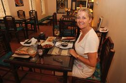 Taken at the Hanoi cooking centre after preparing and cooking the three course meal., Norah K - March 2010