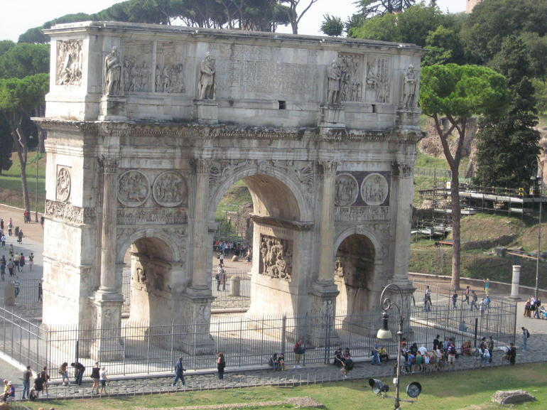 The Arch Located at the Colosseum - Rome