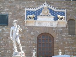 This is a copy of the statue of David (the original is in the Accademia) in the Town Square., David F - July 2008