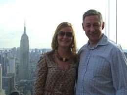 My Wife and I at the Top of the Rock. With the Empire State building in background it's an amazing view., Carl C - April 2010