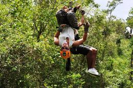 Photo of Cancun Cancun Extreme Zipline Canopy Tour Upside down