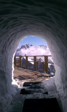 View thru an ice tunnel on top of the mountain , Kimberley W - June 2012
