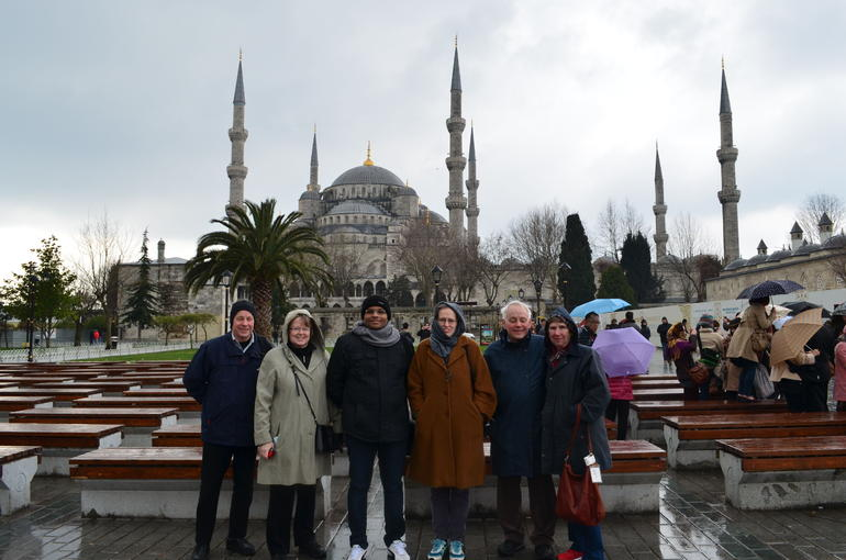 Infront of Blue mosque - Istanbul