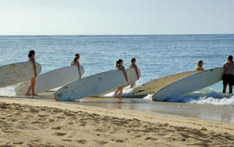 Photo of Oahu Oahu Surf Lessons: Class and Equipment at Ala Moana Beach with Round-Trip Transport Learn to surf, Oahu