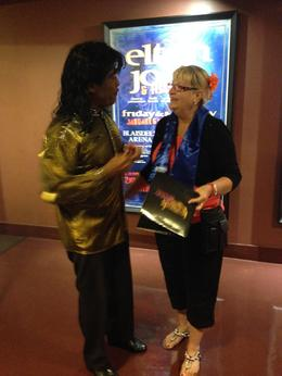 Kaylene Beddows with Little Richard. , Kaylene B - February 2014