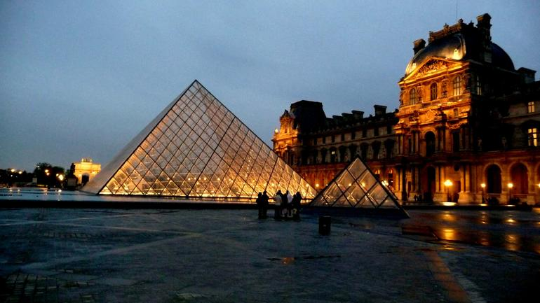 Louvre in evening - Paris