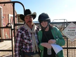 Photo of Las Vegas Old Spanish Trail Horseback Ride with Lunch My wife with a real life cowboy