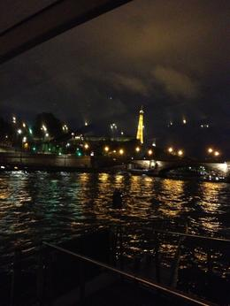 View from the boat on La Seine at night , Melissa Q - September 2013