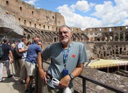 David standing in the Colosseum , David M - July 2014