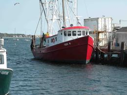 Photo of Boston Cape Cod Fast Ferry boat in the harbor