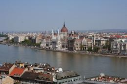 Budapest - A view of the Parliament buildings, Hendrik H - May 2009
