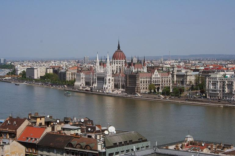 Budapest - A view of the Parliament buildings - Vienna