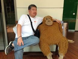 while waiting for the tour at the singapore flyer tourist hub, made friends with orang utan. , Allan D - May 2014