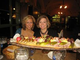 Jen and Erin at the Hofbraukeller. We sampled some traditional Bavarian food... it was wonderful!!! Everyone also enjoyed a liter of their favorite beer!, Lee E - November 2008